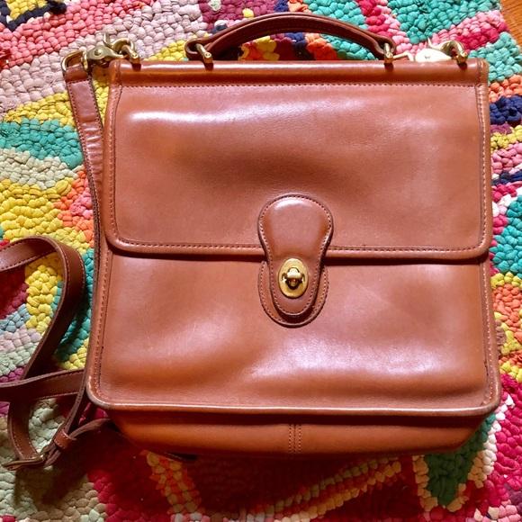 85e041b9a0 Coach Handbags - Coach Willis 9927 British Tan Messenger Bag